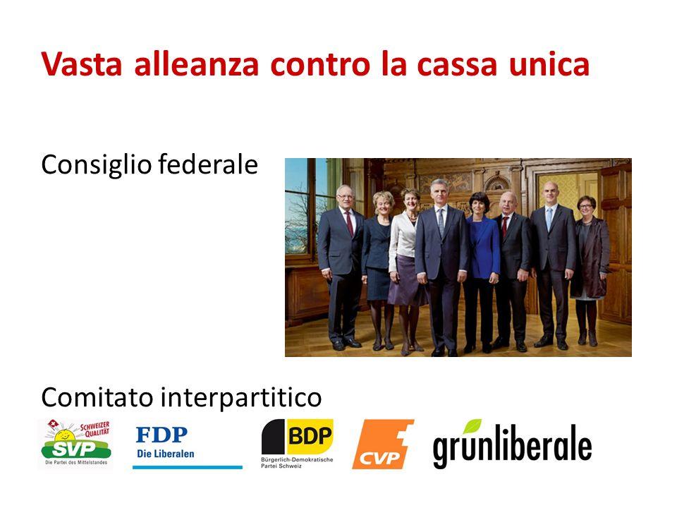 Consiglio federale Comitato interpartitico Vasta alleanza contro la cassa unica