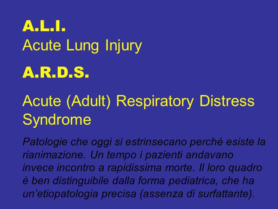 A.L.I.Acute Lung Injury A.R.D.S.