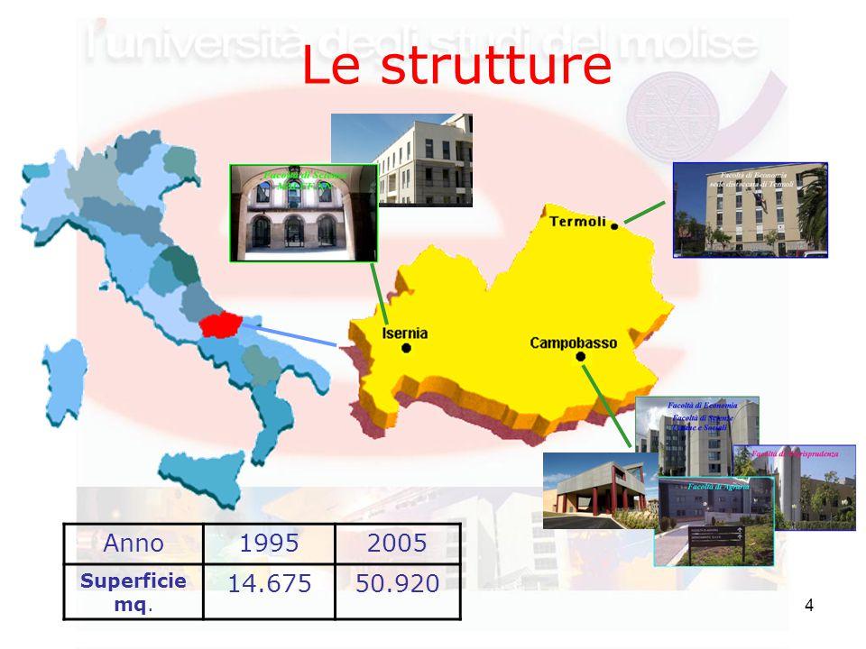 4 Le strutture Anno19952005 Superficie mq. 14.67550.920