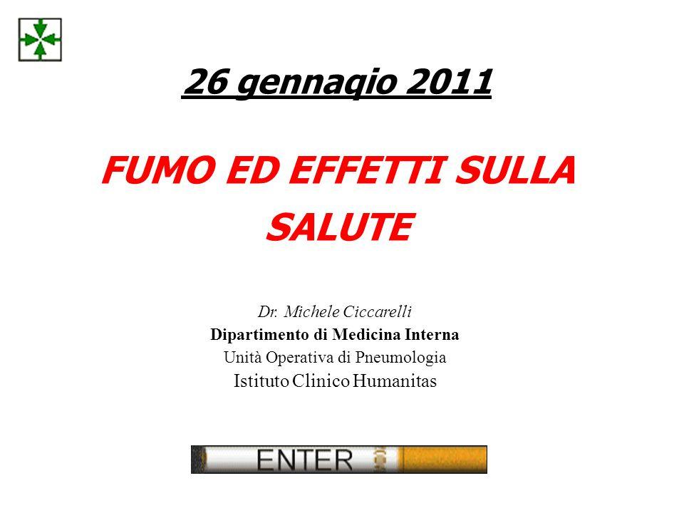 26 gennaqio 2011 FUMO ED EFFETTI SULLA SALUTE Dr.