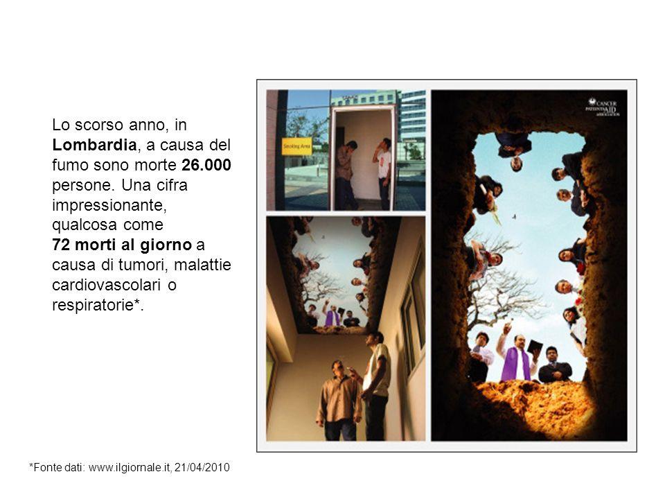 Malattie e decessi legati al fumo Lo scorso anno, in Lombardia, a causa del fumo sono morte 26.000 persone.