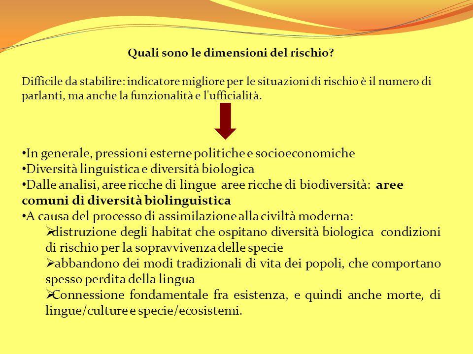 PAROLE PERDUTE, MONDI PERDUTI Morte delle lingue ( distinzione non netta, difficile stabilire cause e momento esatto ): ● Improvvisa: es.