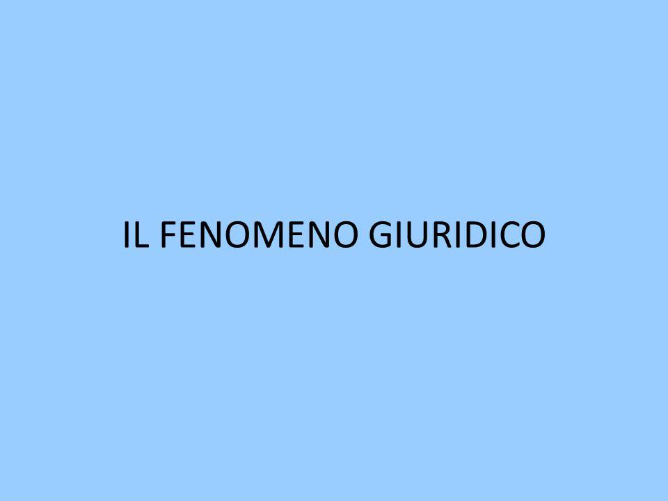 IL FENOMENO GIURIDICO