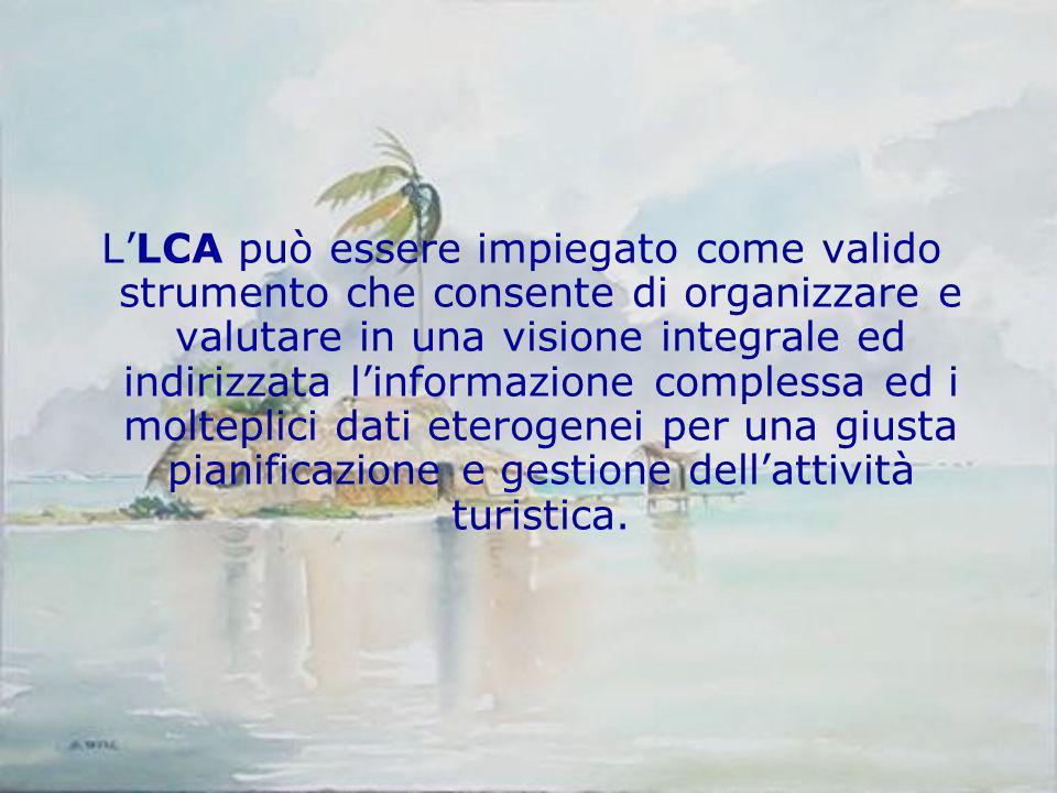 L'LCA può essere impiegato come valido strumento che consente di organizzare e valutare in una visione integrale ed indirizzata l'informazione comples