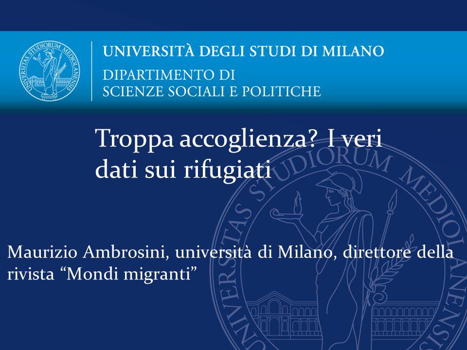 """Maurizio Ambrosini, università di Milano, direttore della rivista """"Mondi migranti"""" Troppa accoglienza? I veri dati sui rifugiati"""