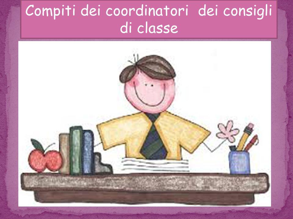 Compiti dei coordinatori dei consigli di classe