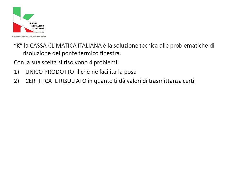 K la CASSA CLIMATICA ITALIANA è la soluzione tecnica alle problematiche di risoluzione del ponte termico finestra.