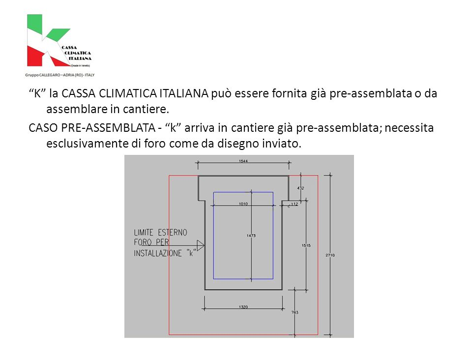 k arriva in cantiere così:
