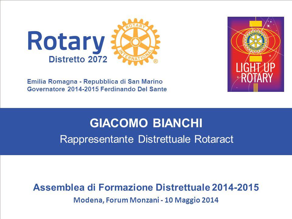 SEMINARIO ISTRUZIONE SQUADRA DISTRETTUALE Repubblica di San Marino, 22 Febbraio 2014 GIACOMO BIANCHI Emilia Romagna - Repubblica di San Marino Governa