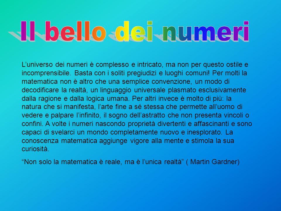 L'universo dei numeri è complesso e intricato, ma non per questo ostile e incomprensibile.