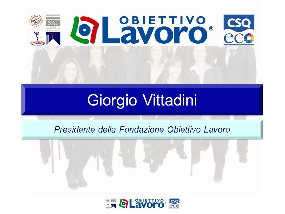 Giorgio Vittadini Presidente della Fondazione Obiettivo Lavoro