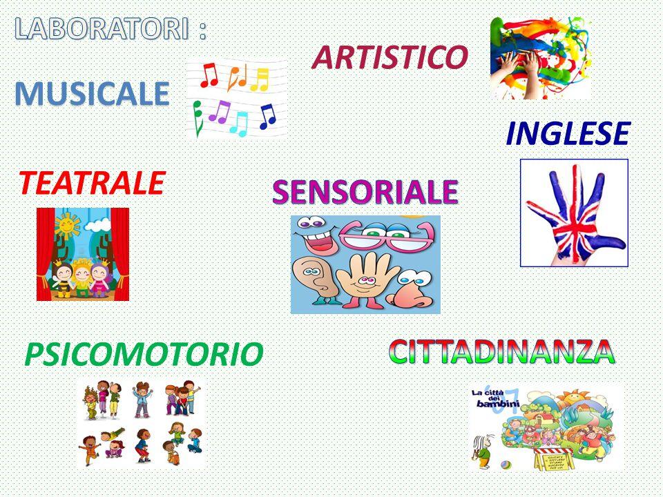 PSICOMOTORIO ARTISTICO TEATRALE INGLESE MUSICALE