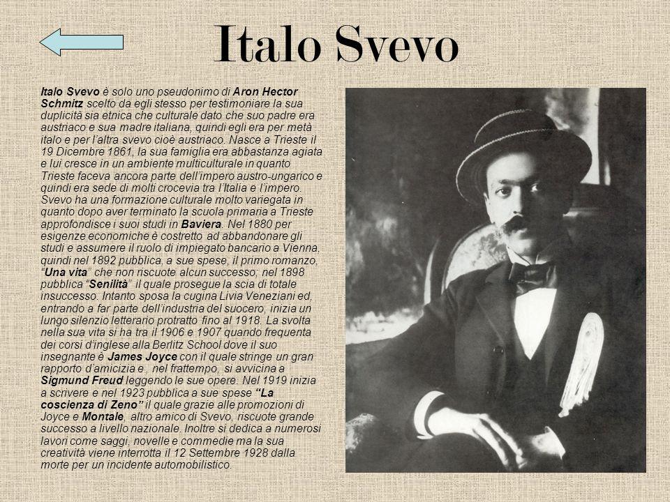 Italiano Italo Svevo Italo Svevo Senilità La malattia La malattia
