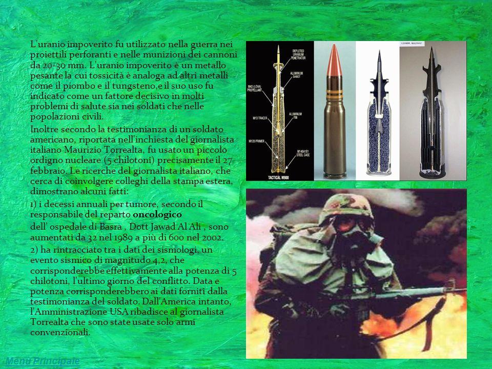 Le malattie della guerra Circa 50 000 soldati statunitensi su 700mila mandati nel Golfo nel 91 per combattere la guerra tecnologica contro Saddam Hussein contrassero una malattia che intaccava il sistema immunitario.