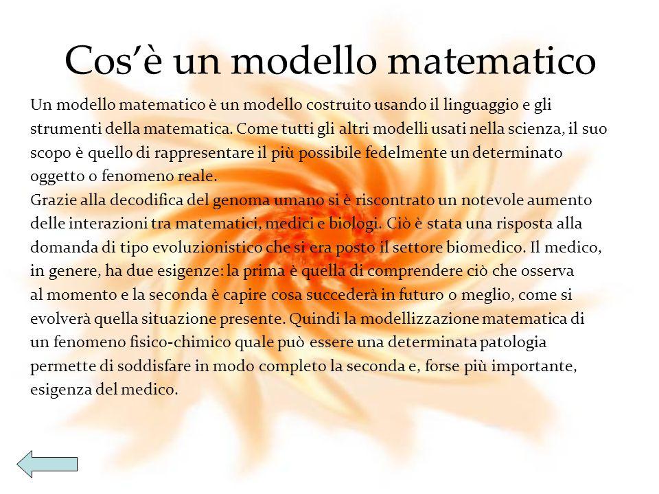 Matematica Modellizzazione di fenomeni fisici-chimici Modellizzazione di fenomeni fisici-chimici Modellizzazione di fenomeni fisici-chimici Modellizzazione di fenomeni fisici-chimici Analisi del modello Analisi del modello Analisi del modello Analisi del modello Conclusioni Conclusioni Conclusioni