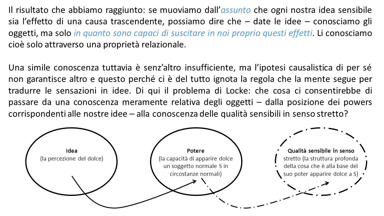 Ora sembra possibile in linea di principio distinguere due casi differenti: -l'evento deriva dalla causa, ma il modo in cui si manifesta è soprattutto indice delle proprietà del medium in cui si realizza.