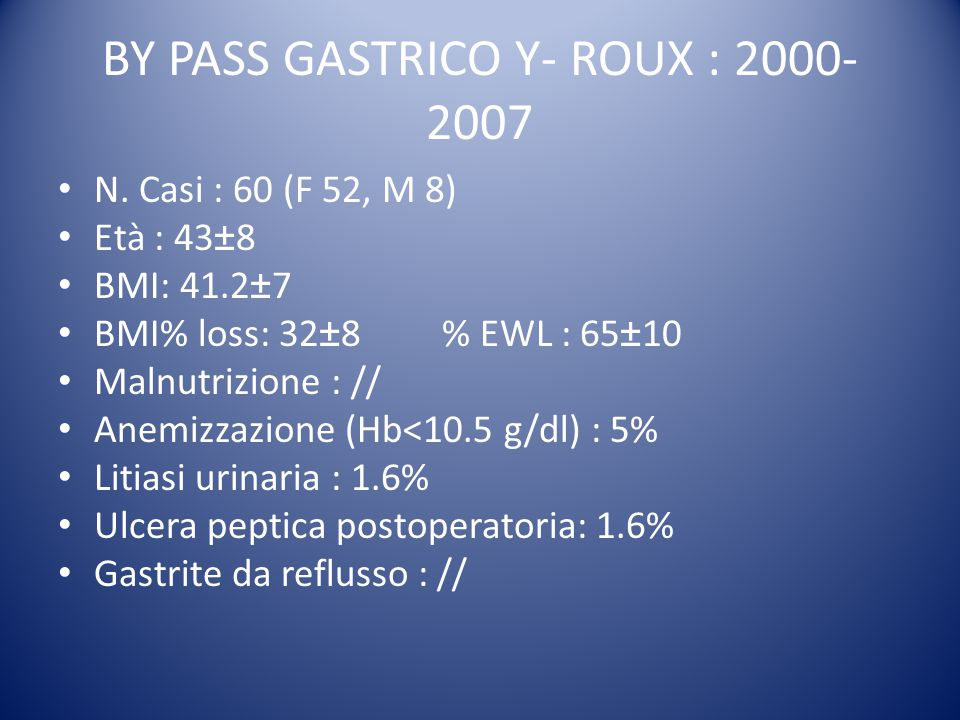 A. Csendes, 2009 GASTRIC SURGERY AND BILE REFLUX GASTRITIS