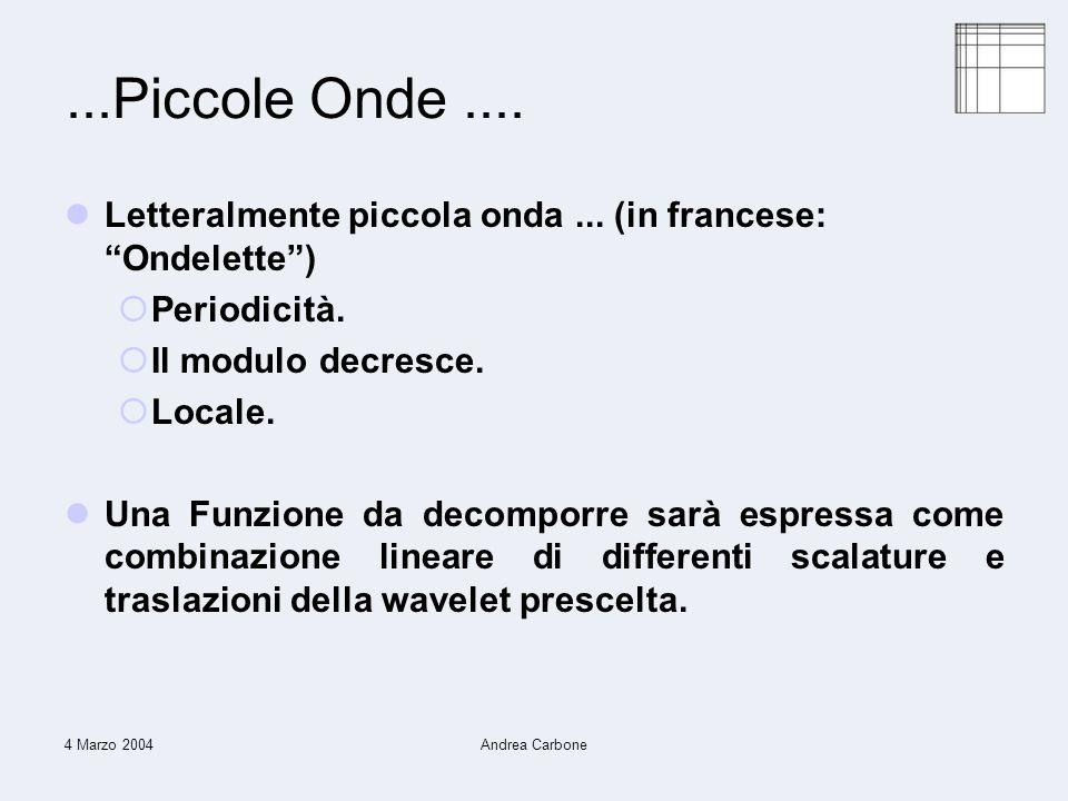 4 Marzo 2004Andrea Carbone...Piccole Onde.... Letteralmente piccola onda...