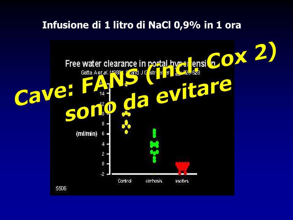Infusione di 1 litro di NaCl 0,9% in 1 ora