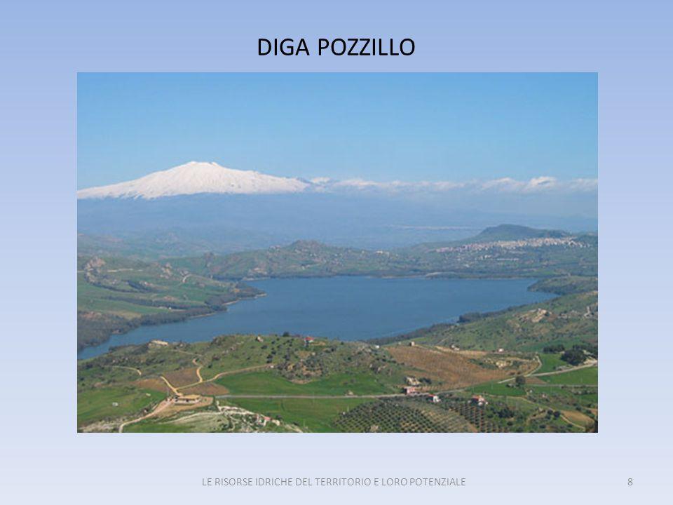 ALCUNI DATI SULLA DIGA POZZILLO CORSO D'ACQUA PRINCIPALESALSO QUOTA INVASO354,00 m.s.l.m.