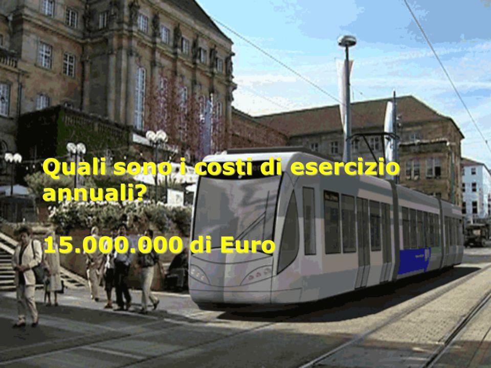 Quali sono i costi di esercizio annuali? 15.000.000 di Euro Quali sono i costi di esercizio annuali? 15.000.000 di Euro
