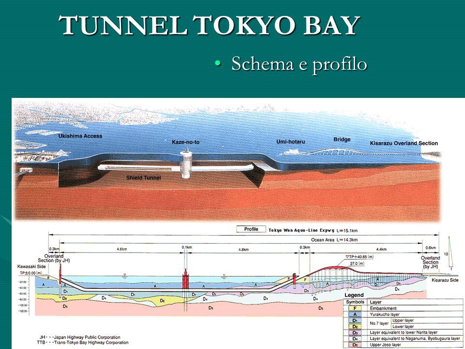 TUNNEL TOKYO BAY Schema e profiloSchema e profilo