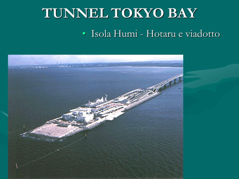 TUNNEL TOKYO BAY Isola Humi - Hotaru e viadottoIsola Humi - Hotaru e viadotto