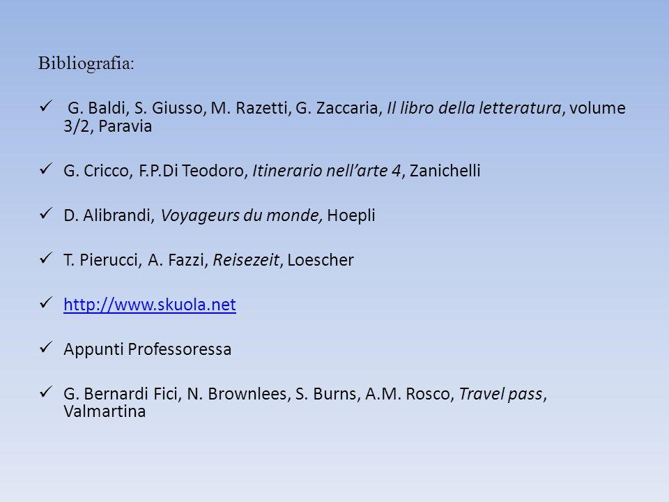 Bibliografia: G. Baldi, S. Giusso, M. Razetti, G.