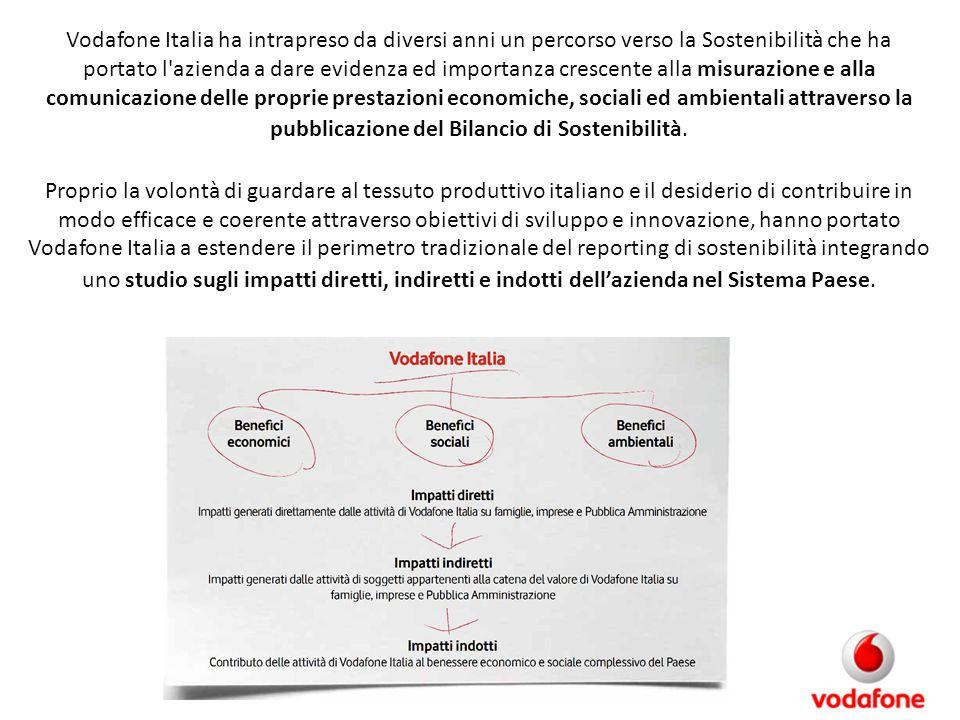 Vodafone Italia ha intrapreso da diversi anni un percorso verso la Sostenibilità che ha portato l'azienda a dare evidenza ed importanza crescente alla