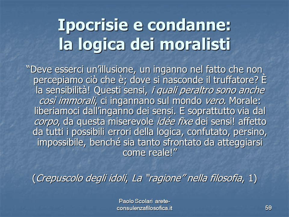 """Ipocrisie e condanne: la logica dei moralisti """"Deve esserci un'illusione, un inganno nel fatto che non percepiamo ciò che è; dove si nasconde il truff"""