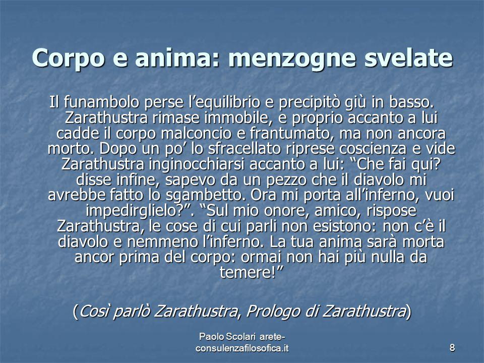 Tutte le nostre religioni e le filosofie sono sintomi del nostro corporeo (Frammenti postumi, 1884, 25 [407]) Paolo Scolari arete- consulenzafilosofica.it29