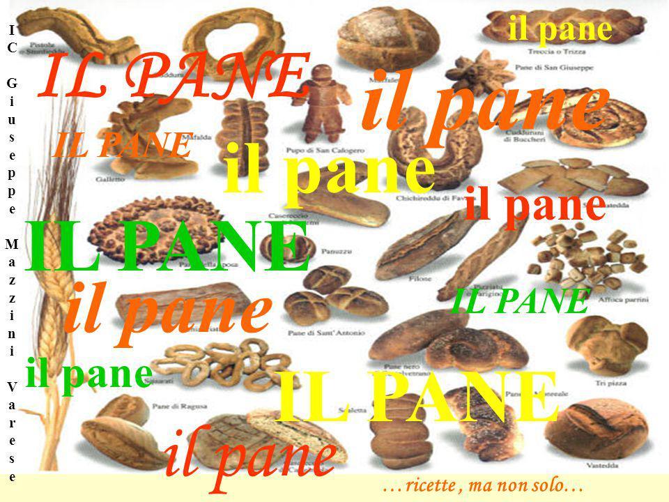 il pane IL PANE il pane IL PANE il pane IL PANE …ricette, ma non solo… I C G i u s e p p e M a z z i n i V a r e s e