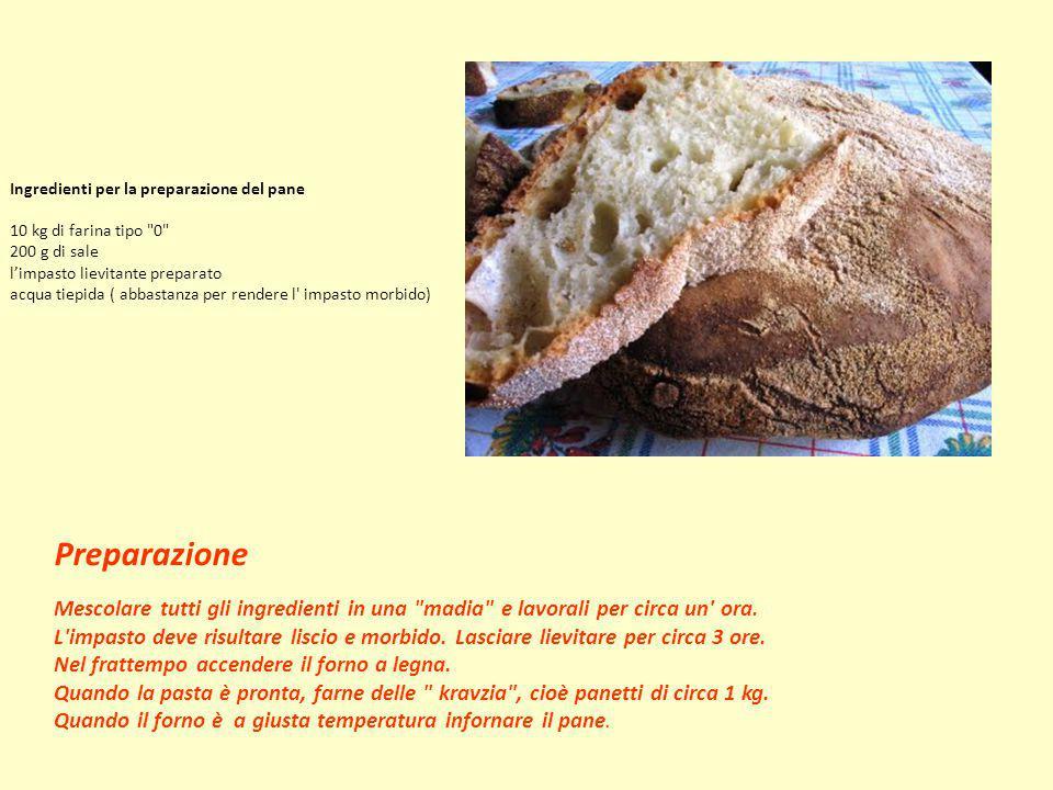 Ingredienti per la preparazione del pane 10 kg di farina tipo