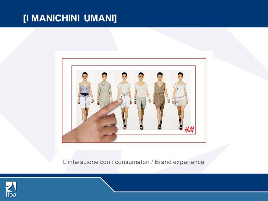 [I MANICHINI UMANI] L'interazione con i consumatori / Brand experience