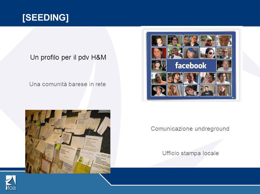 [SEEDING] Un profilo per il pdv H&M Una comunità barese in rete Comunicazione undreground Ufficio stampa locale