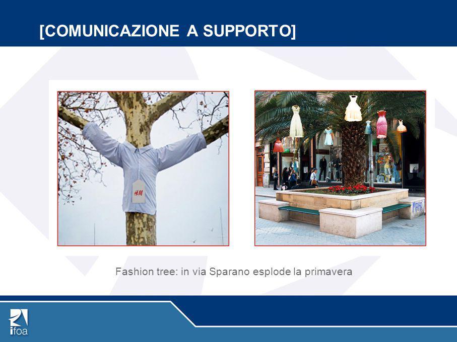[COMUNICAZIONE A SUPPORTO] Fashion tree: in via Sparano esplode la primavera