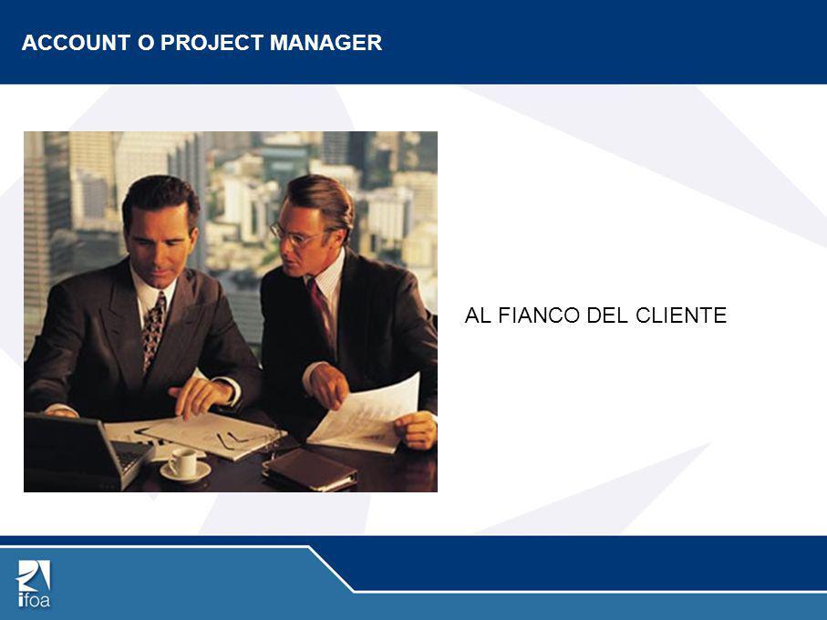 LE FUNZIONI Coordina tutto il lavoro strategico e operativo Gestisce il budget affidato all'agenzia.