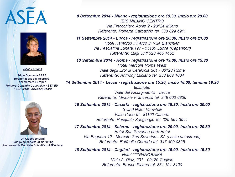 8 Settembre 2014 - Milano - registrazione ore 19.30, inizio ore 20.00 IBIS MILANO CENTRO Via Finocchiaro Aprile 2 - 20124 Milano Referente: Roberta Ga