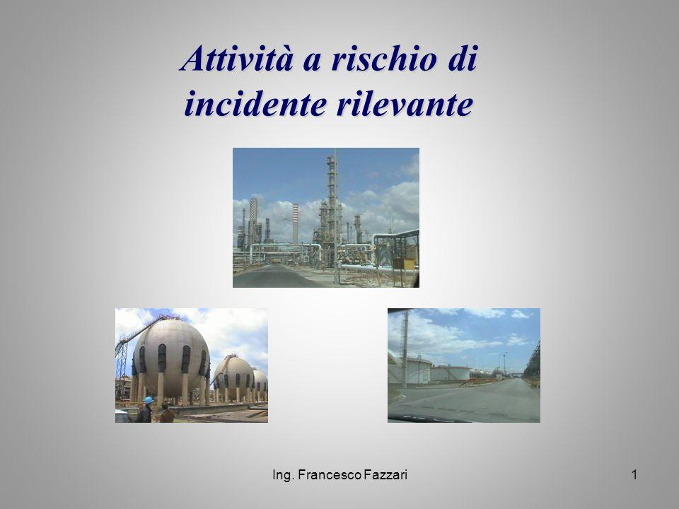Ing. Francesco Fazzari1 Attività a rischio di incidente rilevante