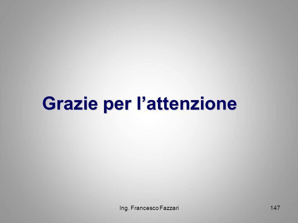 Ing. Francesco Fazzari147 Grazie per l'attenzione Grazie per l'attenzione