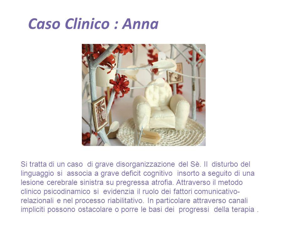 Caso Clinico : Anna Si tratta di un caso di grave disorganizzazione del Sè.