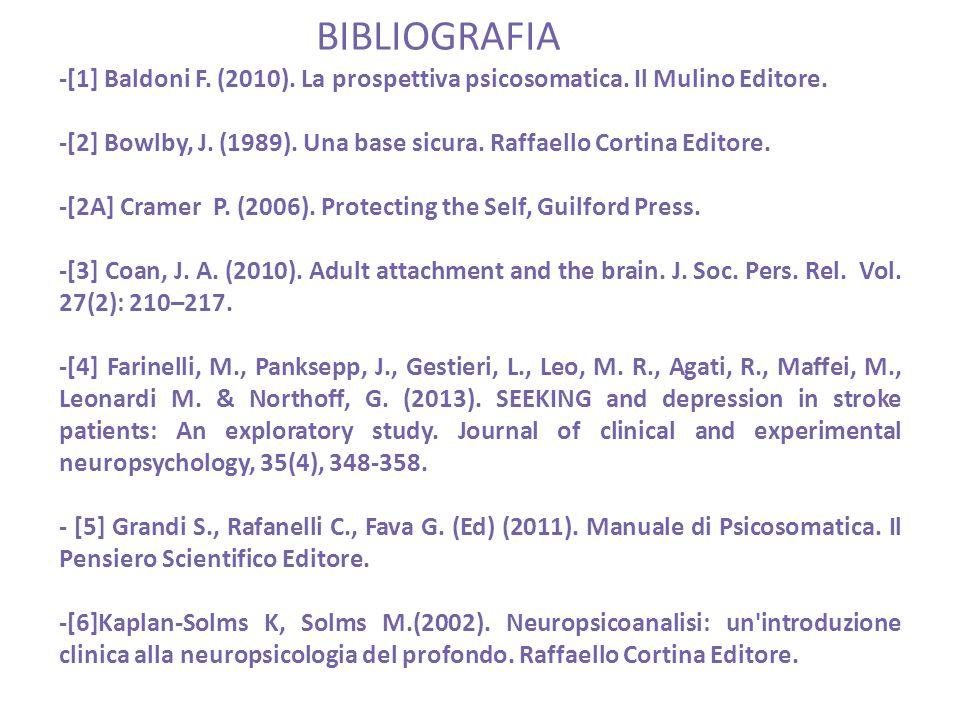-[1] Baldoni F. (2010). La prospettiva psicosomatica.
