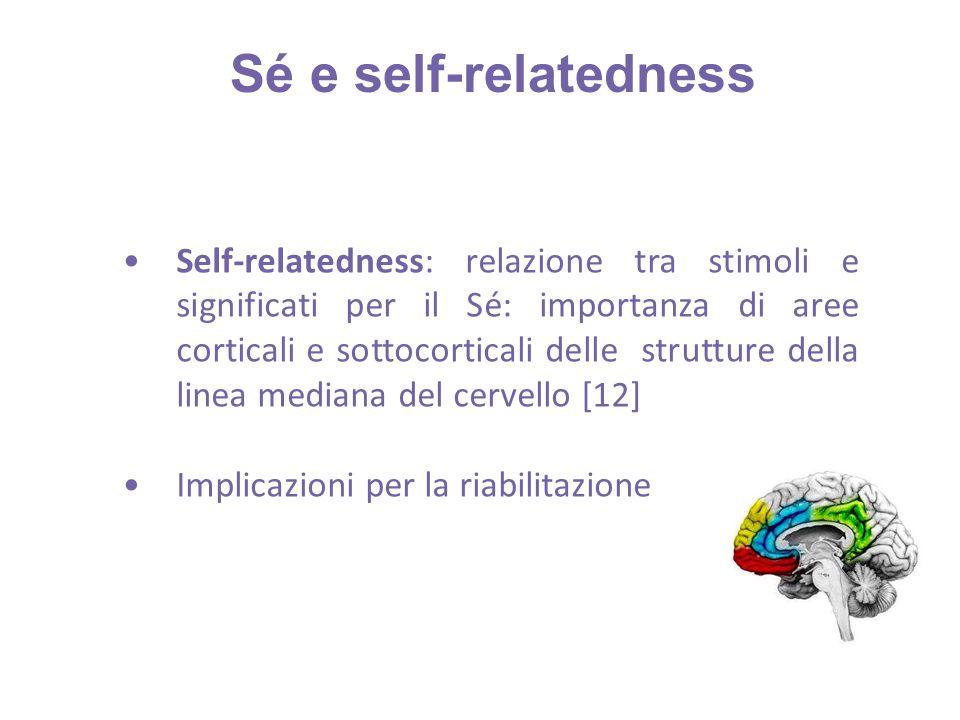 Self-relatedness: relazione tra stimoli e significati per il Sé: importanza di aree corticali e sottocorticali delle strutture della linea mediana del cervello [12] Implicazioni per la riabilitazione Sé e self-relatedness