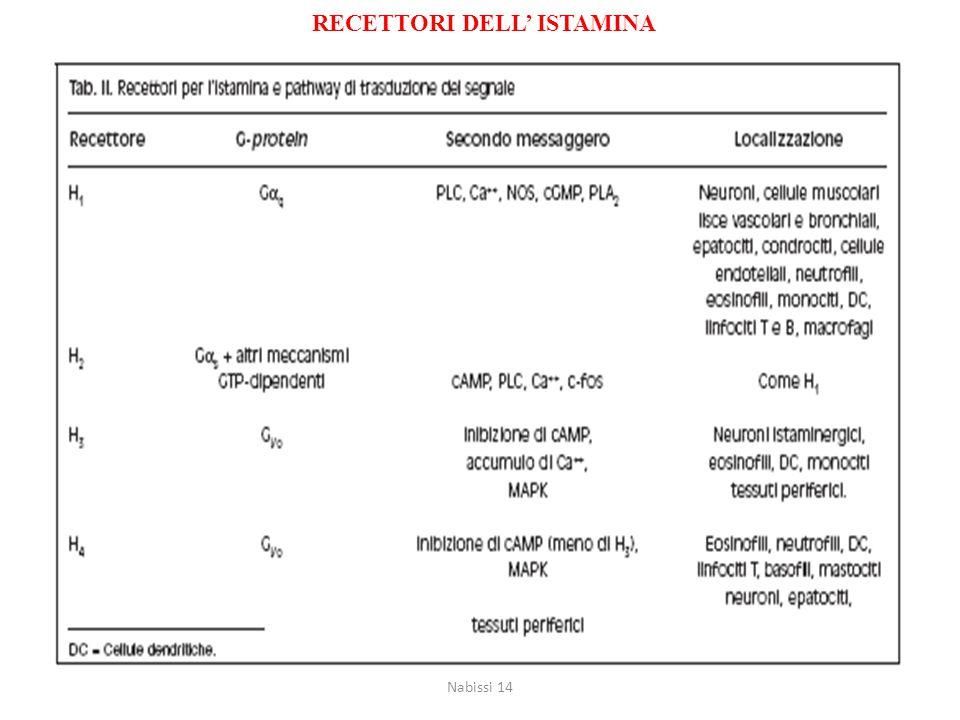 RECETTORI DELL' ISTAMINA Nabissi 14