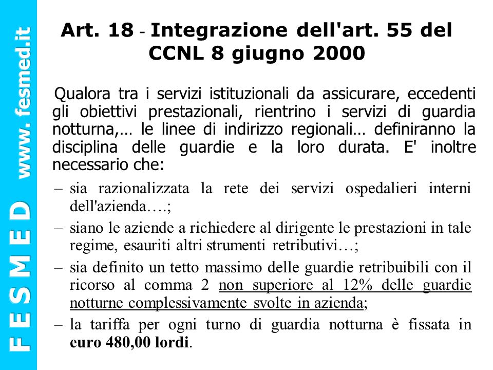 Art.18 - Integrazione dell art.