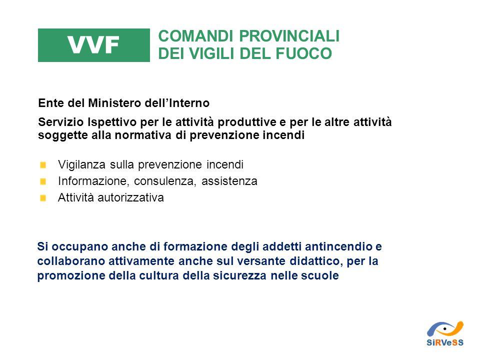 Ente del Ministero dell'Interno Servizio Ispettivo per le attività produttive e per le altre attività soggette alla normativa di prevenzione incendi V