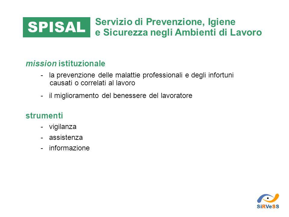 mission istituzionale - la prevenzione delle malattie professionali e degli infortuni causati o correlati al lavoro - il miglioramento del benessere d