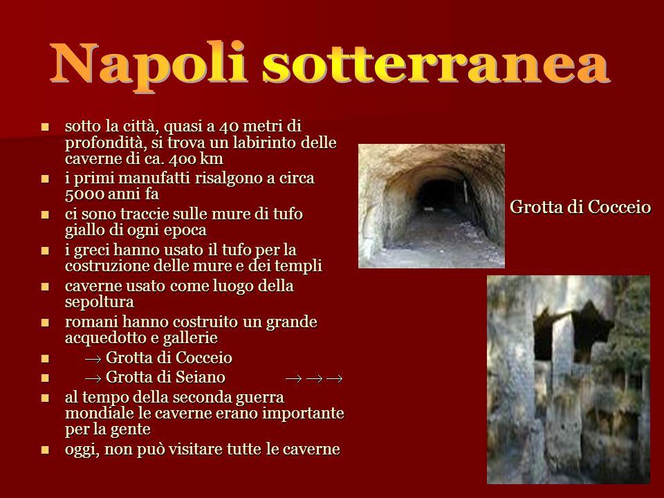 sotto la città, quasi a 40 metri di profondità, si trova un labirinto delle caverne di ca.