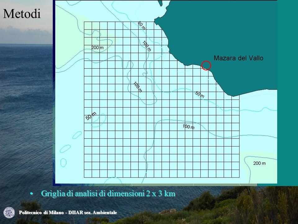 Metodi Griglia di analisi di dimensioni 2 x 3 kmGriglia di analisi di dimensioni 2 x 3 km Politecnico di Milano - DIIAR sez.