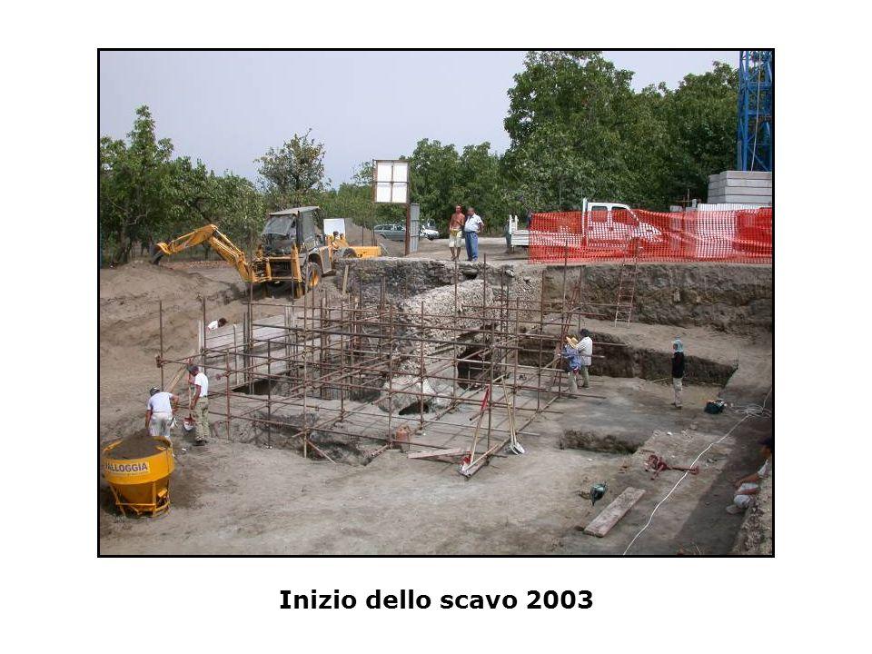 Inizio dello scavo 2003
